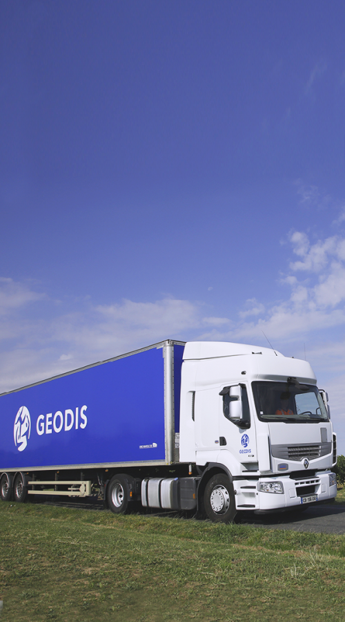 GEODIS truck on a road