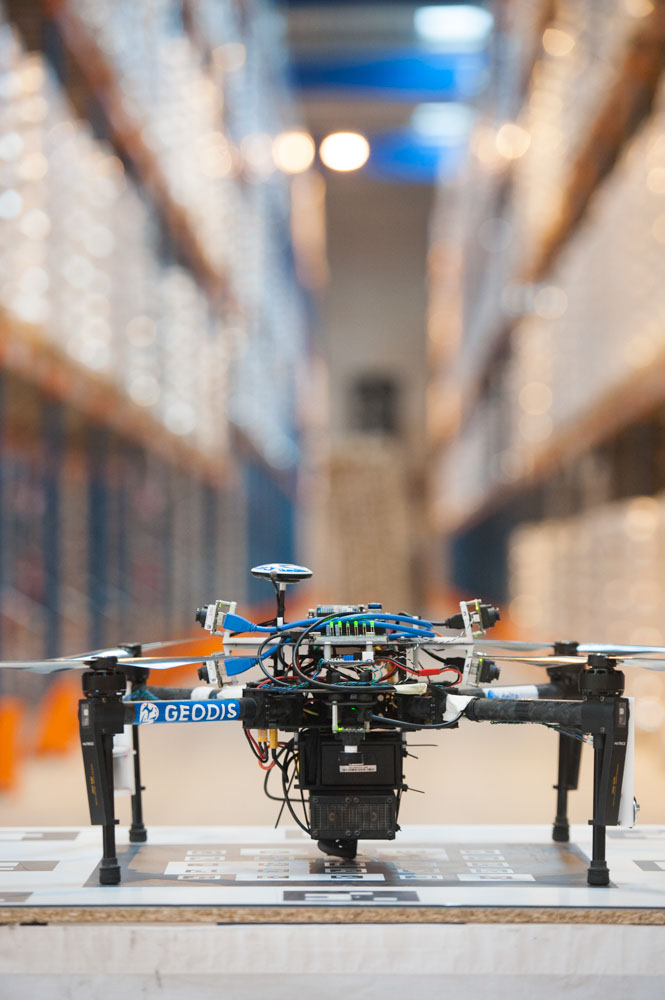 Warehouse inventory using drones: GEODIS and DELTA DRONE have