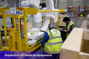 Inspection of medical equipment