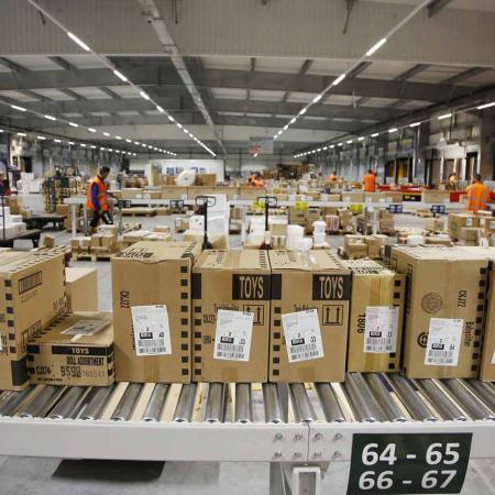 warehouse with parcels
