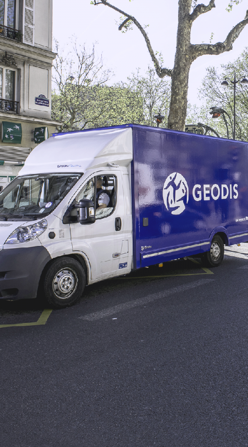 GEODIS truck parked for delivery
